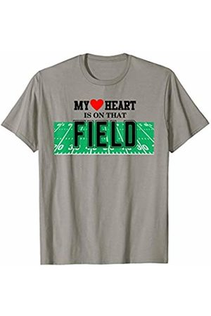 Hadley Designs My Heart Is On That Field Mom Football for Women Mothers Day T-Shirt