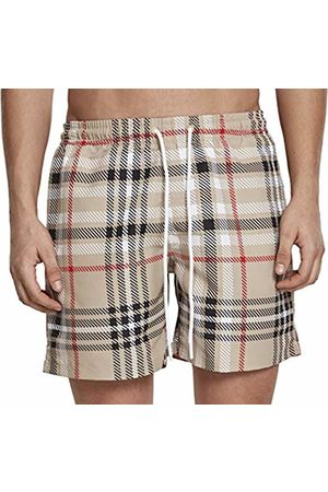 Urban classics Men's Check Swim Shorts Trunks