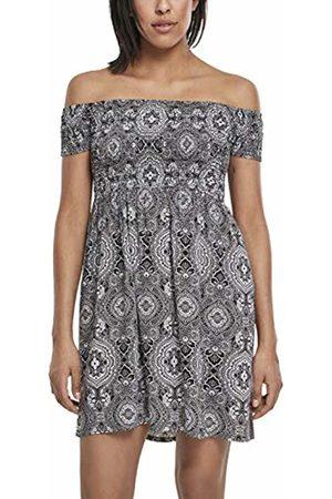 Urban classics Women's Ladies Smoked Off Shoulder Dress (Bandana 01060)