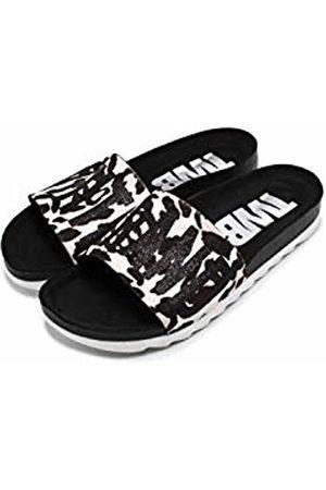 THE WHITE BRAND Women's Bio Open Toe Sandals, Zebra