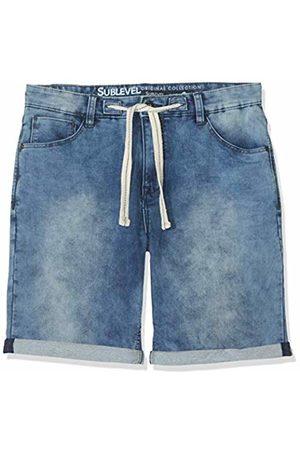 Sublevel Men's H1324K60688KD11-1 Shorts, (Dark Denim 19400)