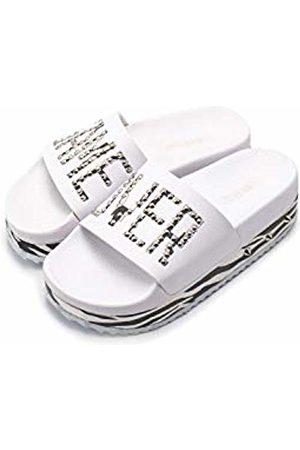 THE WHITE BRAND Women's High Game Over Platform Sandals, Zebra