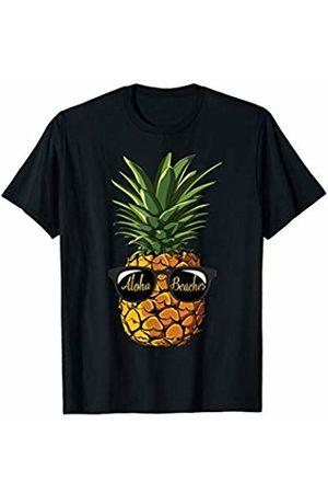 Lique Aloha Beach Pineapple Sunglasses Funny Aloha Beaches Hawaiian Hawaii T-Shirt
