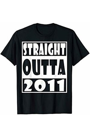 Straight Outta birthday funny t shirt Straight Outta 2011 T-Shirt