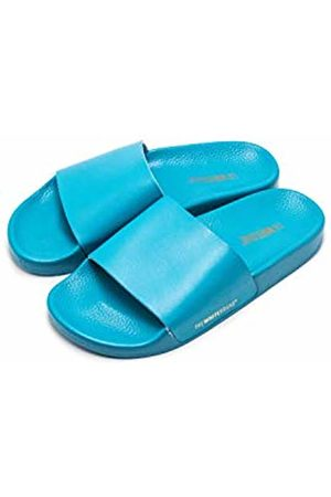 THE WHITE BRAND Women's Minimal Open Toe Sandals, Turquoise