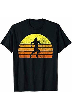 Retro Race Runner Novelty Shirts & Apparel Retro Man Running A Race Vintage Running Sunset T-Shirt