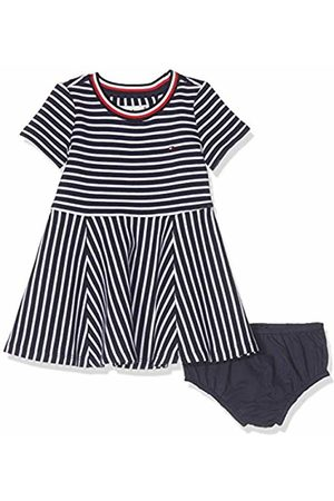 Tommy Hilfiger Baby Girls' Stripe Knit Skater Dress, ( Iris/Bright 002)