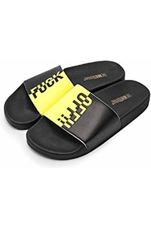 THE WHITE BRAND Men's Fuck Off Open Toe Sandals, Neon
