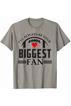Hadley Designs Ill Always Be Your Biggest Fan Proud Mom Football Heart Cute T-Shirt