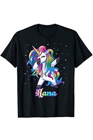 Unicorn Personalized Name Custom Clothing HANA Name Personalized Custom Rainbow Unicorn Dabbing T-Shirt