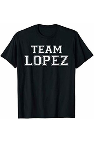 Family Team Surnames Novelty Shirts & Apparel Funny Family Sports Team Lopez Last Name Lopez T-Shirt