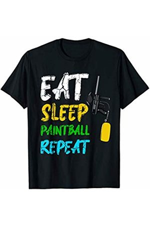 Best Paintball Gifts Tee Eat Sleep Paintball Repeat Team Sport Gun Equipment T-Shirt