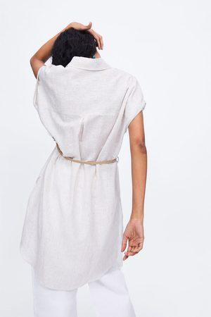 Zara Striped tunic with belt
