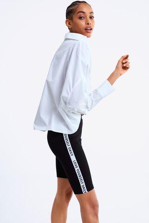 Zara Cycling leggings with slogan side taping