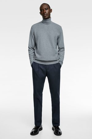 Zara Textured sweater with elbow patches