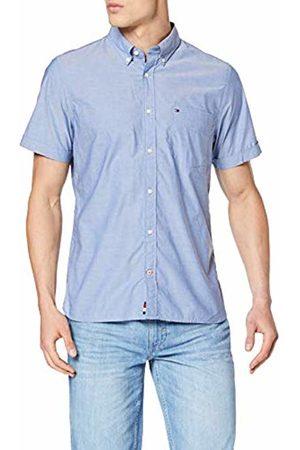 Tommy Hilfiger Men's Slim Summer Poplin Shirt S/s Sweatshirt, ( QUARTZ439)