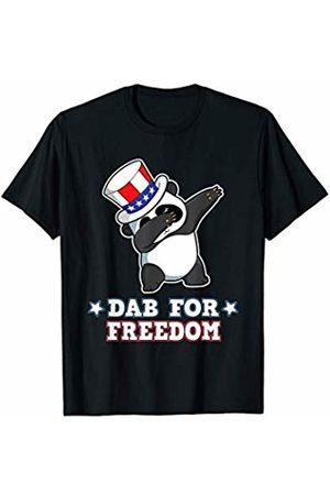BCC Patriotic Shirts & 4th of July Gifts Dabbing Panda Bear Dab For Freedom USA Merica 4th th of July T-Shirt