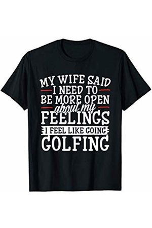 Cheesy Tees Golfing Marriage Open About Feelings Sarcastic Golf T-Shirt