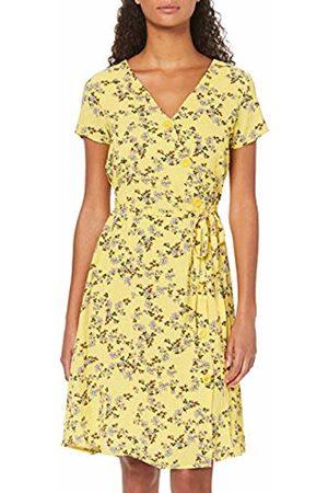 Vero Moda Women's Vmdiana Capsleeve Abk Dress WVN AOP: Diana Print Yarrow Cerisebeet Comb