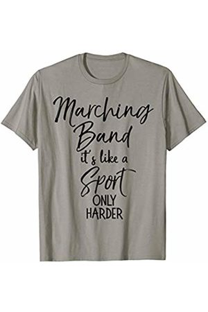 Marching Band Rocks Design Studio Funny Band Quote Joke Marching Band Like a Sport Only Harder T-Shirt