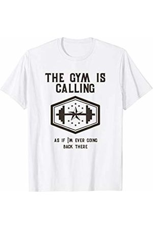 Fitting in Fitness Gifts and Tees The Gym Is Calling Outdoor Workout Lover Graphic T-Shirt