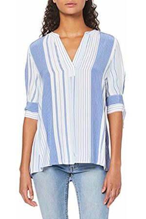 Tommy Hilfiger Women's Falleen Blouse 3/4 SLV Sport Top, (Engineered STP/Classic 402)