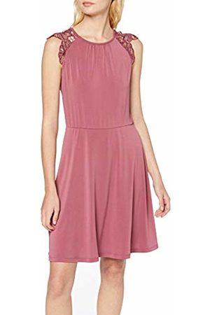 Vero Moda Women's Vmdonika S/l Lace Dress Sb6, Hawthorn Rose