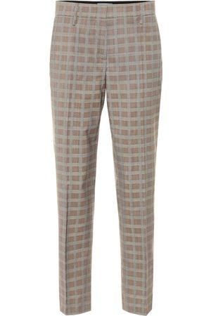 Prada Mid-rise wool-blend straight pants