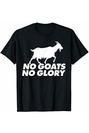 Miftees No Goats No Glory funny goat pun T-Shirt