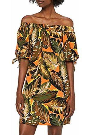 Dorothy Perkins Women's Orange Tropical Bardot Party Dress