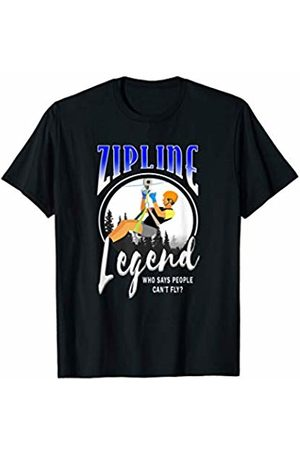 Port Island Funny Ziplining Gift Shirt Zipline Legend Graphic Shirt For Zipline Sport Enthusiasts T-Shirt