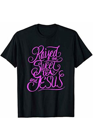 Avinu Apparel Raised on Sweet Tea and Jesus - Southern Christian Quote T-Shirt