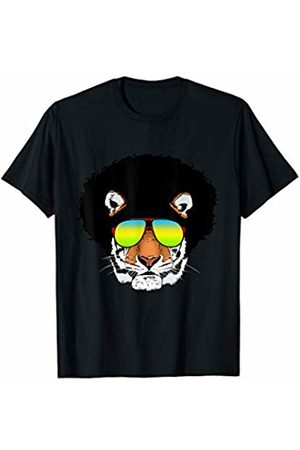 Afro dress with Tiger Eye Gift idea like japanese Afro Tiger with Sunglasses Gift for Tiger & japanese Lovers T-Shirt
