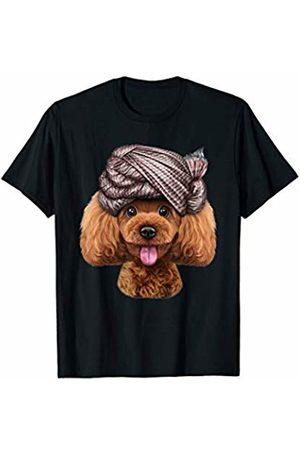 Fox Republic T-Shirts Playful Toy Poodle Dog wearing Turban Head Wrap T-Shirt