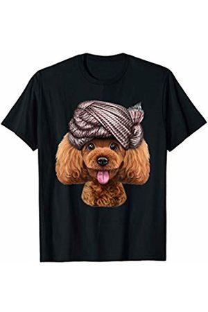 Fox Republic T-Shirts Playful Toy Poodle Dog wearing Turban Head Wrap T-Shirt
