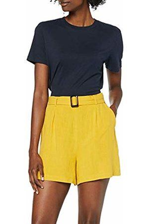 Dorothy Perkins Women's Ochre Hornbuckle Sho Shorts