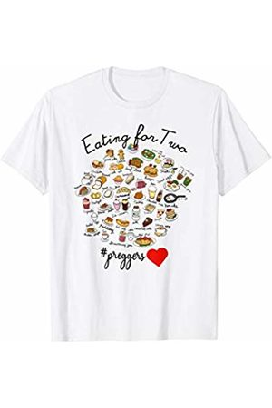 !RALUPOP Pregnancy Announcement Shirts | EATING FOR TWO Shirt T-Shirt