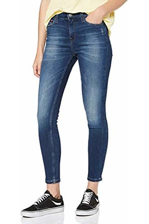 Tommy Hilfiger Women Skinny - Women's Mid Rise Skinny Nora 7/8 Elmd Straight Jeans