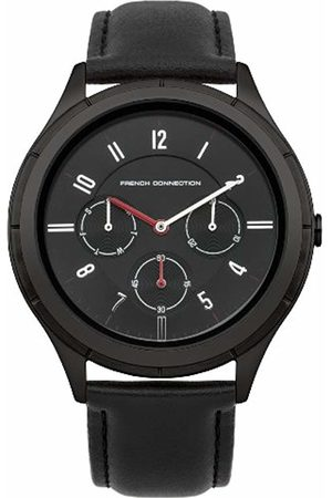 French Connection Men's Quartz Watch with Dial Analogue Display and Leather Strap FC1187BB