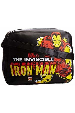 LOGOSHIRT Men Suitcases & Luggage - Unisex-Adult Marvel Iron Man Fake Landscape Format Messenger Bag 140-0864-001