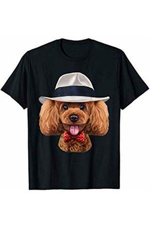 Fox Republic T-Shirts Playful Toy Poodle Dog wearing Fedora Hat T-Shirt