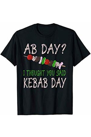 Food Puns and Funny Gifts by LHP Workout Ab Day I Thought You Said Kebab Day Food T-Shirt