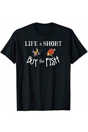 Aquarium Fish Keeper Tees ~ Dofthec Aquarium Fish Tank Life Is Short Buy The Fish Saltwater T-Shirt