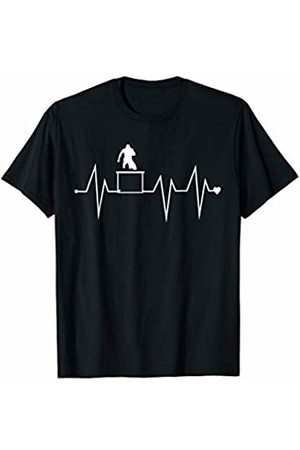 Family Men Women Kids Hurdles Team Gifts Idea Funny Hurdles Running Jumping Heartbeat Heart Pulse Rate EKG T-Shirt