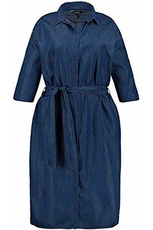 Ulla Popken Women Casual Dresses - Women's Hemdblusenkleid mit Bindeband Dress