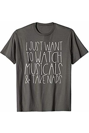 Creative Theater Design Studio I Just Watch Musicals And Take Naps Funny Broadway Theater T-Shirt