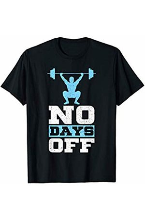 Gift Shirt For Gym Lovers & Weightlifters No Days Off Gym Lover Weight lifter Overhead Squat T-Shirt