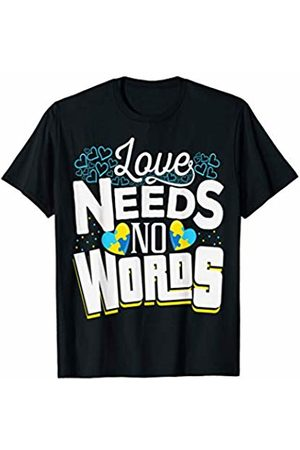 Pubis Support Apparels & Gifts Down Syndrome Awareness Support Puzzle Heart T-Shirt & Gift