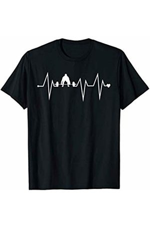 Family Men Women Kids Deadlifting Team Gifts Idea Men T-shirts - Funny Deadlifting Gym Fitness Heartbeat Heart Pulse Rate EKG T-Shirt