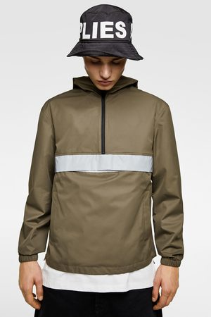 Zara Pouch pocket parka with reflective band